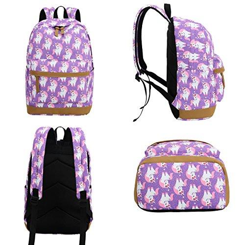 CAMTOP Teens Backpack for School Boys Girls School Bookbag Set Travel Daypack (3pcs Backpack sets/Purple) by CAMTOP (Image #1)