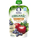 Gerber Organic 2nd Foods Purees Apples Blueberries & Spinach, 3.5 Ounce