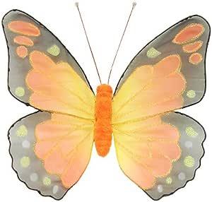 CMI negro y naranja con purpurina malla Monarch mariposas