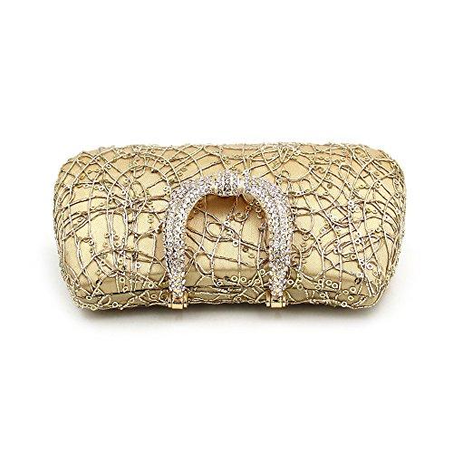 Mariée Paillettes Sac Gold Femmes Color Lovely Luxe Gold à rabbit Strass Mariage Soirée Main Sac Dentelle Soirée de Pochette OFxwgRnqf
