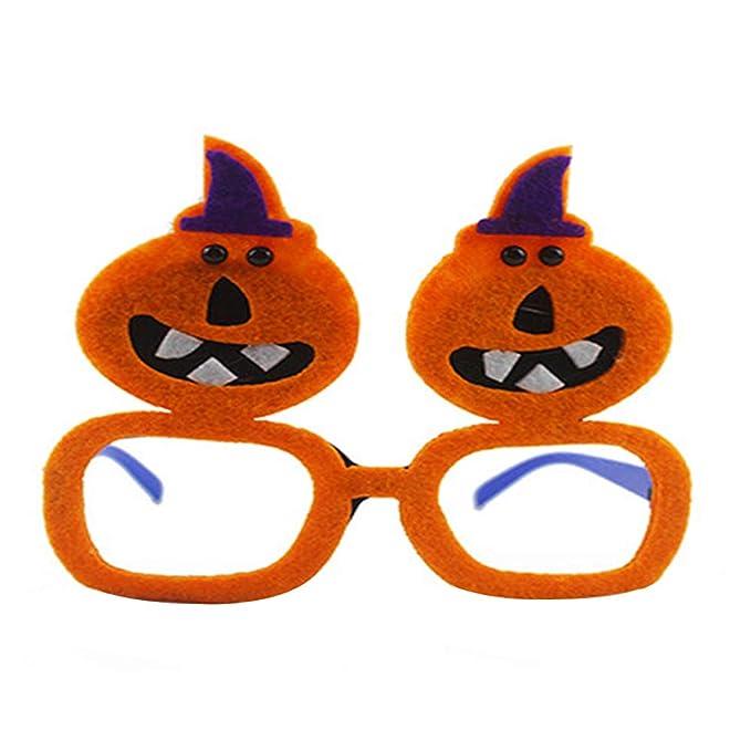 73de717852b711 Cosanter Lunettes D ornement De Fête Halloween Ghost Festival Taille  14 x  13cm(Orange)  Amazon.fr  Vêtements et accessoires