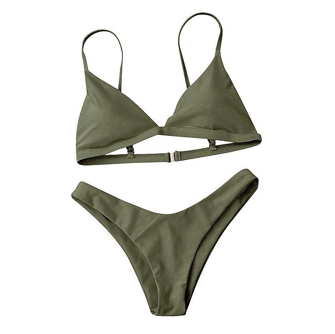 Manadlian_Traje de baño Mujer, Bikinis Mujer 2019 Push Up Sujetador Acolchado Traje De Baño Bikini para Mujer: Amazon.es: Ropa y accesorios