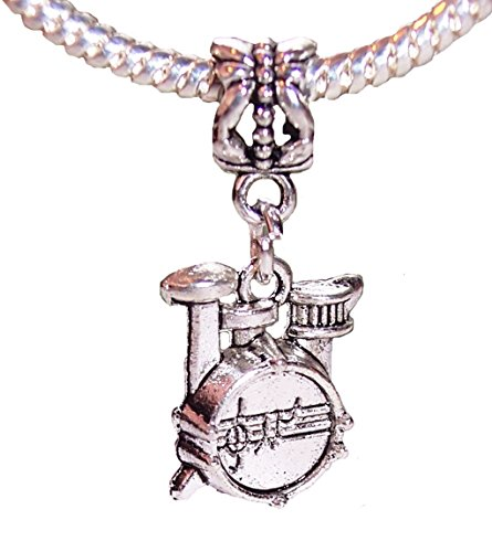 OutletBestSelling Jewelry Making Supply Drum Set Musical Instrument Rock Band Drummer Music Dangle Charm for Bracelets ()