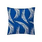 LIEJIE Geometric Pattern Pillowcase Cushion Cover Blue Modern Cushion Cover Square Pillowcase Decoration for Sofa Bed Chair Car 18 x 18 Inch