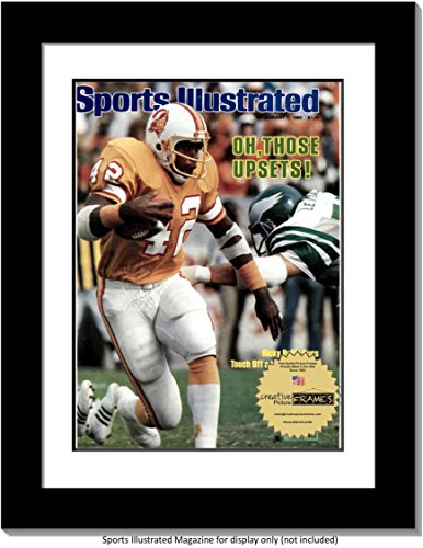 CreativePF [1114bk-w] Collectors Edition Sports Illustrated Frame, Displays 1981-1990 Magazines Measuring 8 by 10 3/4-inches with White Mat (Measure Your Magazine)