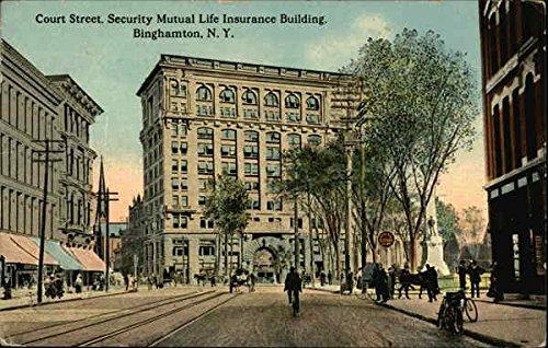 court-street-security-mutual-life-insurance-building-binghamton-new-york-original-vintage-postcard
