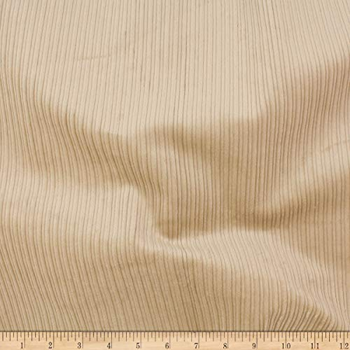 (Telio 8W Stretch Cotton Corduroy Fabric, Beige, Fabric By The Yard)