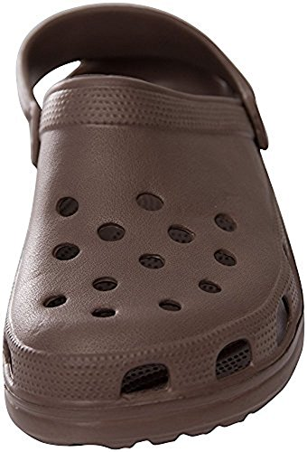 Sunville Mens Perforated Garden Clog Shoes Brown P1aE8GNae0