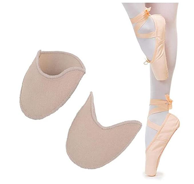 Relief Forefoot Pain for Point Shoes Ballet Slipper XEMZ Ballet Dance Pointe Shoe Socks Pad Knitted Fabric Toe Pouches Pad Toe Wrapped Protector Cushion Women Anti-Slip Toe Half Socks Cap Cover