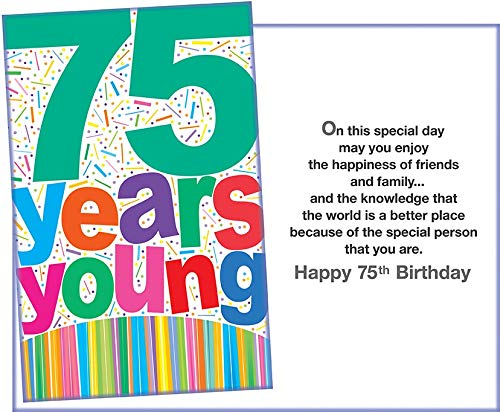 Prime Greetings Happy 75th Birthday Greeting (Free Shipping) Card