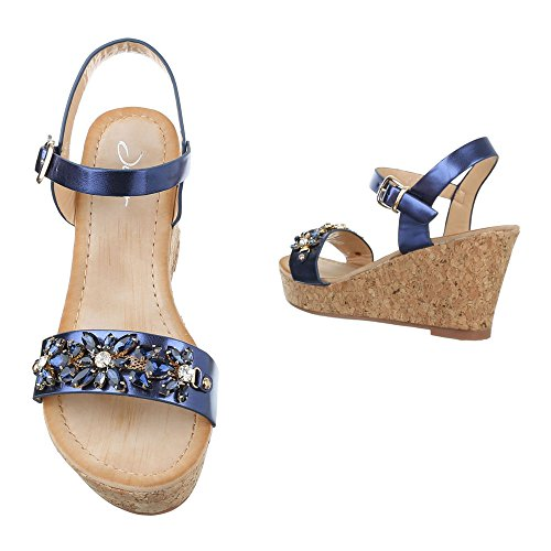 Ital-Design - Plataforma Mujer Blau HJ99-19