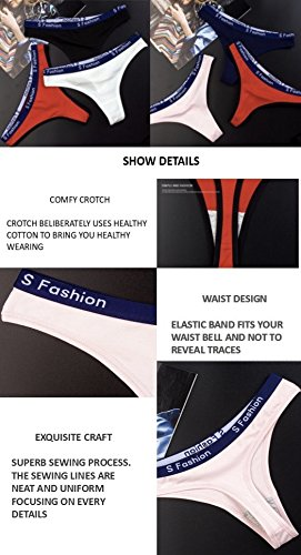 a2c899c3a Crazy Lady Woman Cotton Thong Bikini Underwear Seamless Sexy Lingerie G- String Hipster Panties Sport