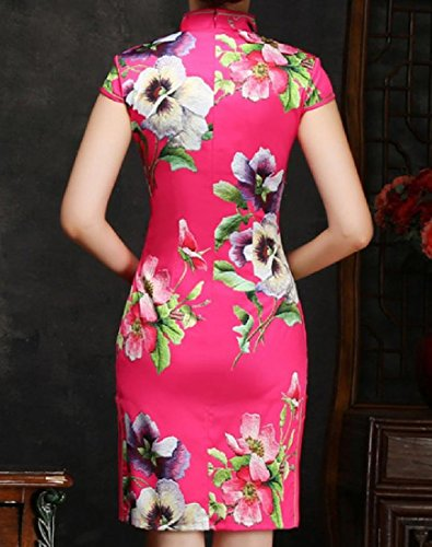 Slim Printed 1 Women Dresses Fitted Flower Chinese Comfy Style Classy OxtqCc