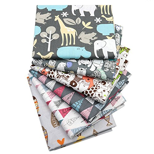 - Hanjunzhao Zoo Animals Fat Quarters Fabric Bundles,100% Cotton Quilting Fabric for Sewing Crafting,18