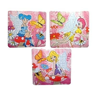 3 x Mini Fairy Jigsaws - Party Bag Fillers by Party Lanes