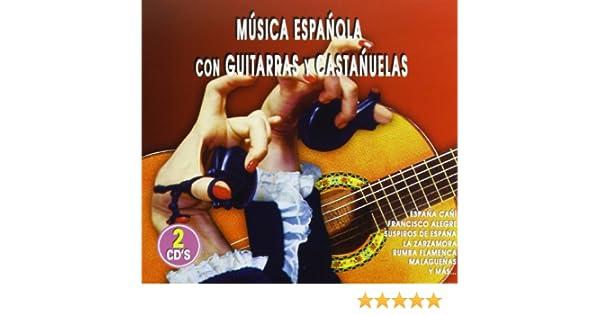 Música Española Con Guitarras Y Castañuelas: Varios: Amazon.es