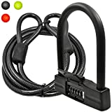 Cheap Lumintrail 18mm 5-Digit Bike Combination U-Lock – Black with 7-Feet Cable