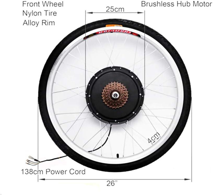 Shioucy Hub Motor 48v 36v E Bike Motor Hub Electric Bicycle Conversion Kits 26 Front Rear Motor Umbausatz Frontmotor Vorderrad Bike Pedelec Tire Sport Freizeit