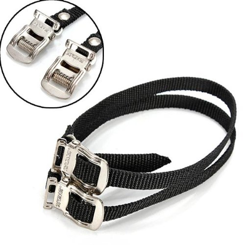 2x Fixed Fixie Gear Bike Pedal Toe Straps Foot Clip Binding Band by Yongse (Image #4)