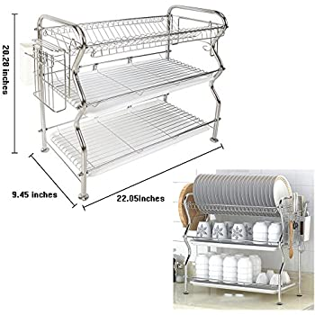 Nex Ht Kc815s M 3 Tier Dish Drainer Rack Stainless Steel