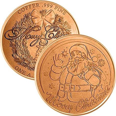 Christmas Nativity 1 oz Copper BU Round USA Made Holiday Season Bullion Coin