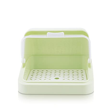 Mural Art Baby Bottles Storage Box Drying Rack with Anti-dust Cover Bread Box Tableware  sc 1 st  Amazon.com & Mural Art Baby Bottles Storage Box Drying Rack with Anti-dust Cover Bread Box Tableware Bottle Finishing Boxes (Green)