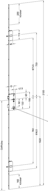 Winkhaus Sistema de fijación de múltiples puntos Herraje puerta ...