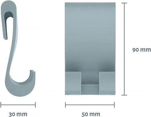 Nicol 2660398 - Gancho de ducha de silicona para pared de cristal, también como gancho de repuesto para mampara Erik, Johann y Kai de Nicol: Amazon.es: Hogar