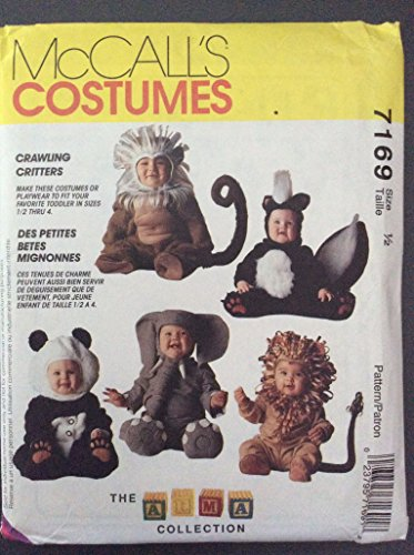 McCalls Costumes Crawling Critters Size 1/2 - pattern 7169