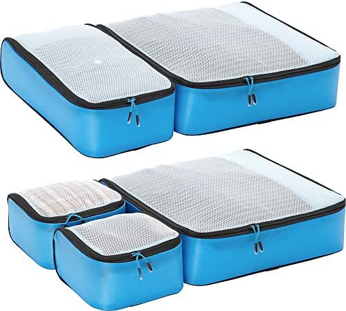 eBags Hyper-Lite Travel Packing Cubes - Lightweight Organizers - Super Packer 5pc Set