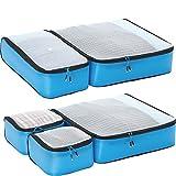 eBags Ultralight Travel Packing Cubes - Lightweight Organizers - Super Packer 5pc Set - (Blue)