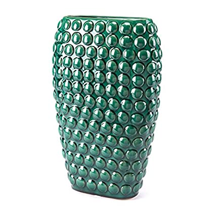Amazon Zuo Dots Vase Large Green Home Kitchen
