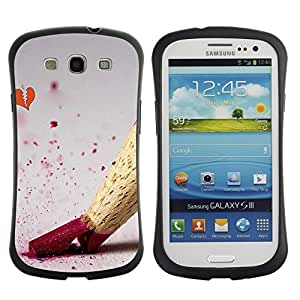 All-Round Hybrid Rubber Case Hard Cover Protective Accessory Gerneration-I Compatible with SAMSUNG GALAXY S3 & I9300 - Design Color Pencil