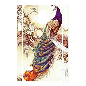 Love Girly Peacock Hipster Phone Cover for Samsung Galaxy S5 I9600 Case wangjiang maoyi