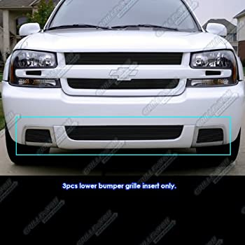 APS Compatible with 2006-2009 Chevy Trailblazer SS Aluminum Grille Combo C61007A