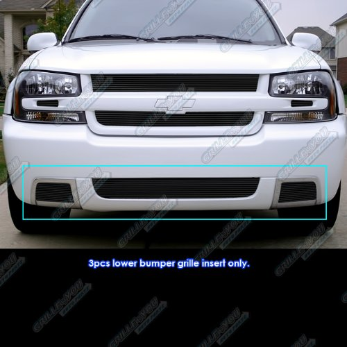 (APS Compatible with 06-09 Chevy Trailblazer SS Lower Bumper Black Billet Grille Insert C66469H)