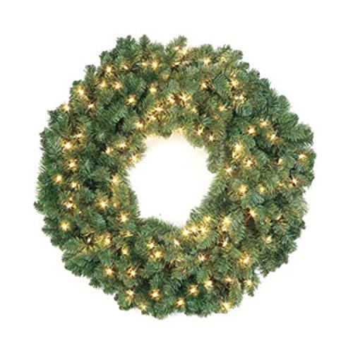 36-pre-lit-douglas-fir-christmas-wreath-clear-dura-lights