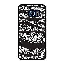 Zebra Stripe and Oil Ripple in Black and White Design case for Samsung Galaxy S6 Edge