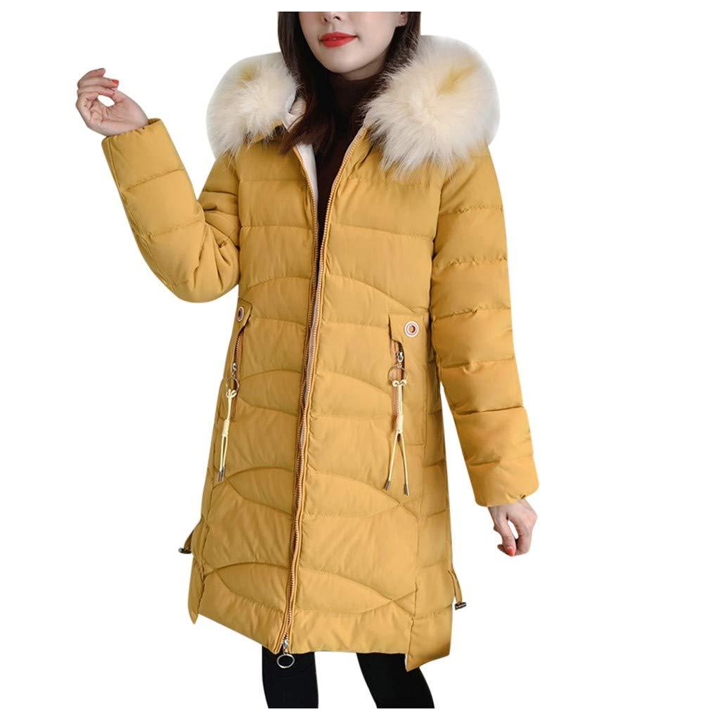 Cegduyi Fashion Women Winter Warm Cotton Hooded Winter Jacket Long-Sleeved Coat by Cegduyi_women coats