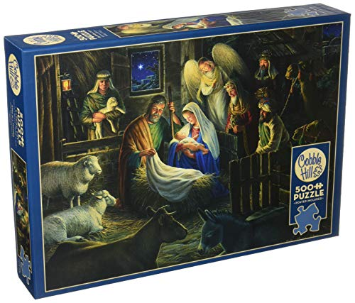 Cobblehill 85040 500 Pc Away In A Manger Puzzle Vari