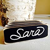 50 Rectangle Chalkboard Name Tags with Magnetic Backing, Corporate Event Name Tags, Chalkboard Name Tags