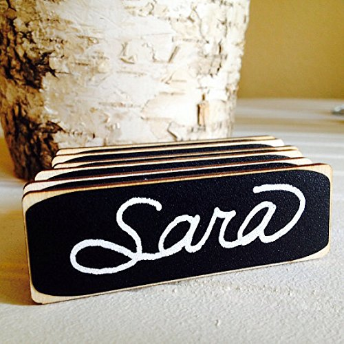 amazon com 6 rectangle chalkboard name tags with magnetic backings