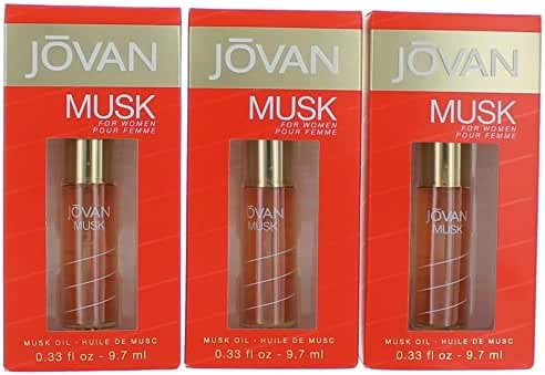 JOVAN MUSK by Jovan PERFUME OIL .33 OZ (Package Of 3)