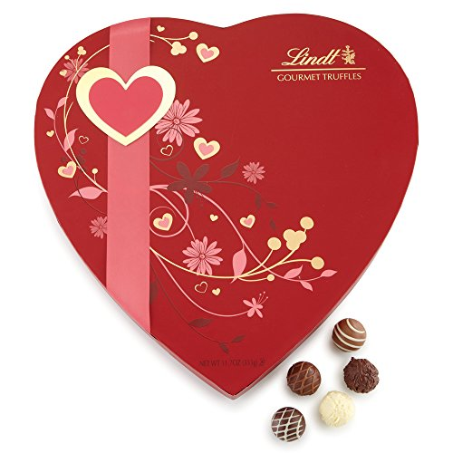 Valentine Gourmet Truffles Chocolate Passion Gift Heart, 11.7oz
