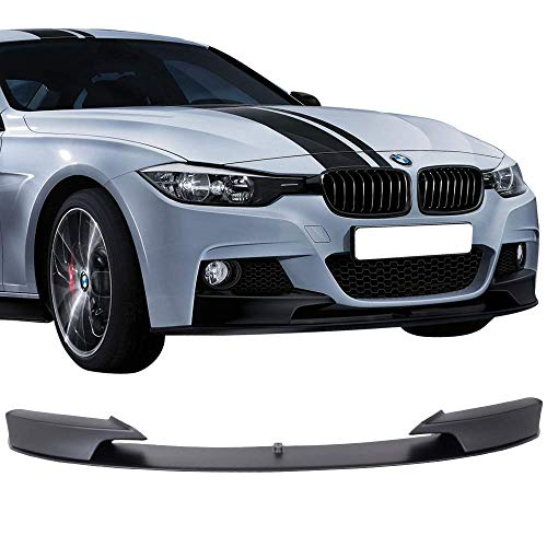 Front Bumper Lip Fits 2012-2018 BMW F30 3-SERIES | M Style PP Black Front Lip Spoiler Splitter by IKON MOTORSPORTS | 2013 2014 2015