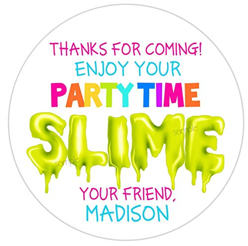 Slime Stickers Slime Partyslime Favorspersonalized Stickerslabelsslime Favors DIY Slime Party Time Slime for $<!--$16.00-->