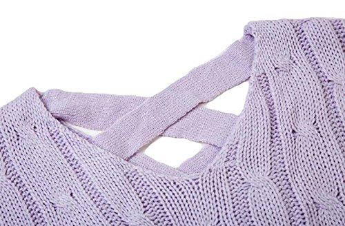 La Sra Otoño E Invierno Suéter Tocando Fondo Suéter Suéter Flojo Hueco Halter Europa Grey