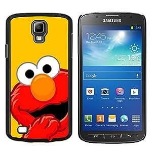 TECHCASE---Cubierta de la caja de protección para la piel dura ** Samsung Galaxy S4 Active i9295 ** --MOP ROJO DIVERTIDO