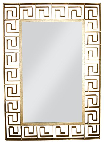 Antique Gold Iron Greek Key Design Wall Mirror