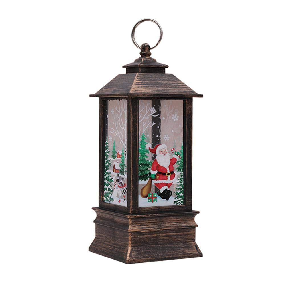 Lanterna di Natale Vintage A LED, Teepao Decorativo Decorazione del Castello di Natale A Forma di Fiocco di Neve Lampada A Forma di Castello di Natale (Pupazzo di Neve) Aolvo